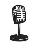 Vector Microphone Icon Royalty Free Stock Photography
