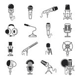 Vector microphone icons. Stock Images