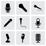 Vector microphone icons set Royalty Free Stock Photography