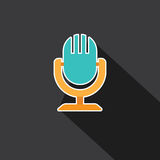 Vector of Microphone Royalty Free Stock Photography