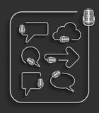 Vector microphone in shape of speech bubbles Stock Photography