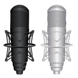 Vector Microphones. Vector image of microphones isolated on white background Royalty Free Stock Images