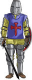 Vector middeleeuwse ridder stock illustratie