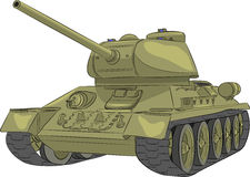Vector. Middle tank T-34-85. Stock Photography