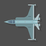 Vector mig airplane illustration plane top view and aircraft transportation design international object. Royalty Free Stock Images