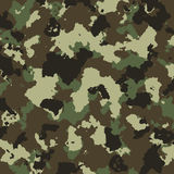 Vector military camouflage pattern in green colors Stock Images