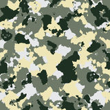 Vector military camouflage pattern in green colors Royalty Free Stock Images