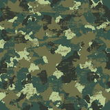 Vector military camouflage pattern in green colors Stock Photos