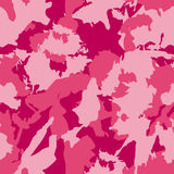 Vector military camouflage pattern. Pink hand drawn spots. Stock Photos