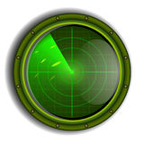 Vector military radar Royalty Free Stock Images