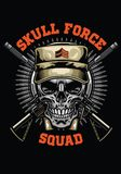 Military skull design. Vector of military skull design Stock Photo