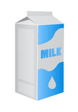 Vector milk carton pack Stock Images