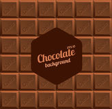Vector Milk Chocolate Background Stock Images