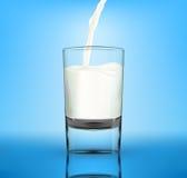 Vector milk in glass Stock Photo