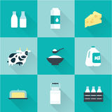 Vector milk icon Stock Photography