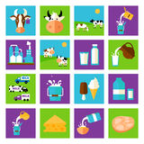 Vector milk icon Royalty Free Stock Images