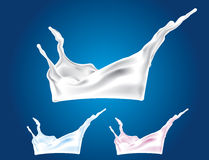 Vector Milk Splash vector illustration