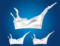 Vector Milk Splash Royalty Free Stock Photography