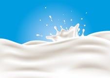 Vector Milk Splash Royalty Free Stock Image