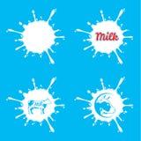Vector Milk Splashes Stock Photo