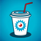 Vector milkshake in a paper cup Royalty Free Stock Image