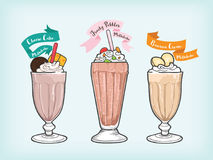 Vector milkshake vector and cliparts for industries Stock Photography