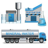 Vector Mineral Waters Production Royalty Free Stock Photo