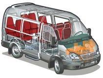 Vector mini bus stock photo
