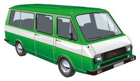 Vector mini bus isolated Stock Photography