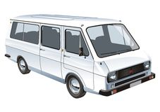 Vector mini bus isolated stock illustration