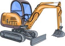 Vector Mini Excavator Imagen de archivo