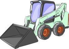 Vector Mini Excavator Stock Image