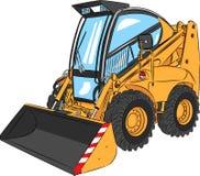 Vector Mini Excavator Royalty Free Stock Photo