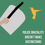 Vector minimal concept for international day against police brutality Royalty Free Stock Images