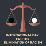 Vector minimal concept for international day for the elimination of racism Stock Images