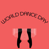 Vector minimal concept for world dance day Royalty Free Stock Photography