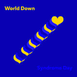Vector minimal concept for world down syndrome day Stock Image