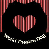 Vector minimal concept for world theatre day Royalty Free Stock Photography