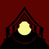 Vector minimal concept for world theatre day Royalty Free Stock Photos