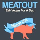 Vector minimal concept for world vegetarian day Stock Photos