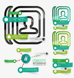 Vector minimal contact book infographic Royalty Free Stock Image
