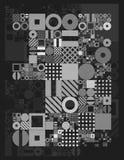 Vector minimal covers procedural design. Futuristic minimalistic layout. Conceptual generative background. Journal or Stock Photo