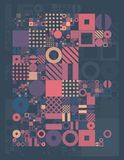 Vector minimal covers procedural design. Futuristic minimalistic layout. Conceptual generative background. Journal or Stock Photos