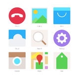 Vector Minimal Flat Icons Set 2 Stock Image