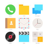 Vector Minimal Flat Icons Set 1 Stock Photos