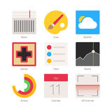 Vector Minimal Flat Icons Set 4 Royalty Free Stock Photography
