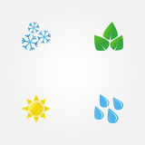 Vector minimal illustration of seasons Stock Images