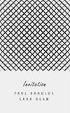 Vector minimal invitation card or ticket Stock Image