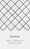 Vector minimal invitation card or ticket. Vector invitation card or ticket, monochrome geometric pattern templates. Ideal for Save The Date, tickets, anniversary Royalty Free Stock Images