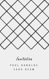 Vector minimal invitation card or ticket. Vector invitation card or ticket, monochrome geometric pattern templates. Ideal for Save The Date, tickets, anniversary Stock Photography